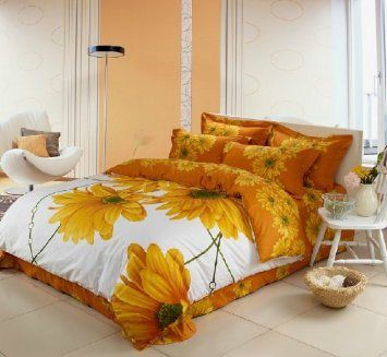 Luxury Orange Paisley Bedding Luxury Comforter Sets Sunflower Bedding Sets Duvet Cover Set 3d Orange Bedding Sets Duvet Bedding Sets Paisley Bedding