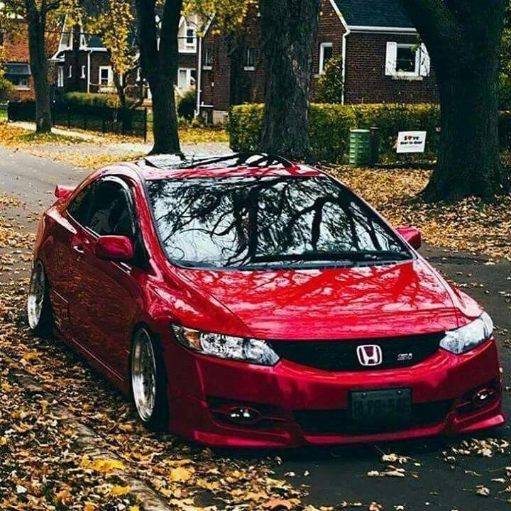 Otono Honda Rojo Coches Deportivos Autos Modificados Coches De Lujo
