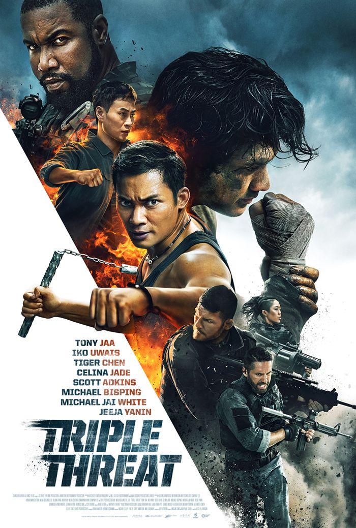 Triple Threat Poster Tony Jaa Iko Uwais Full Movies Online Free Free Movies Online Triple Threat