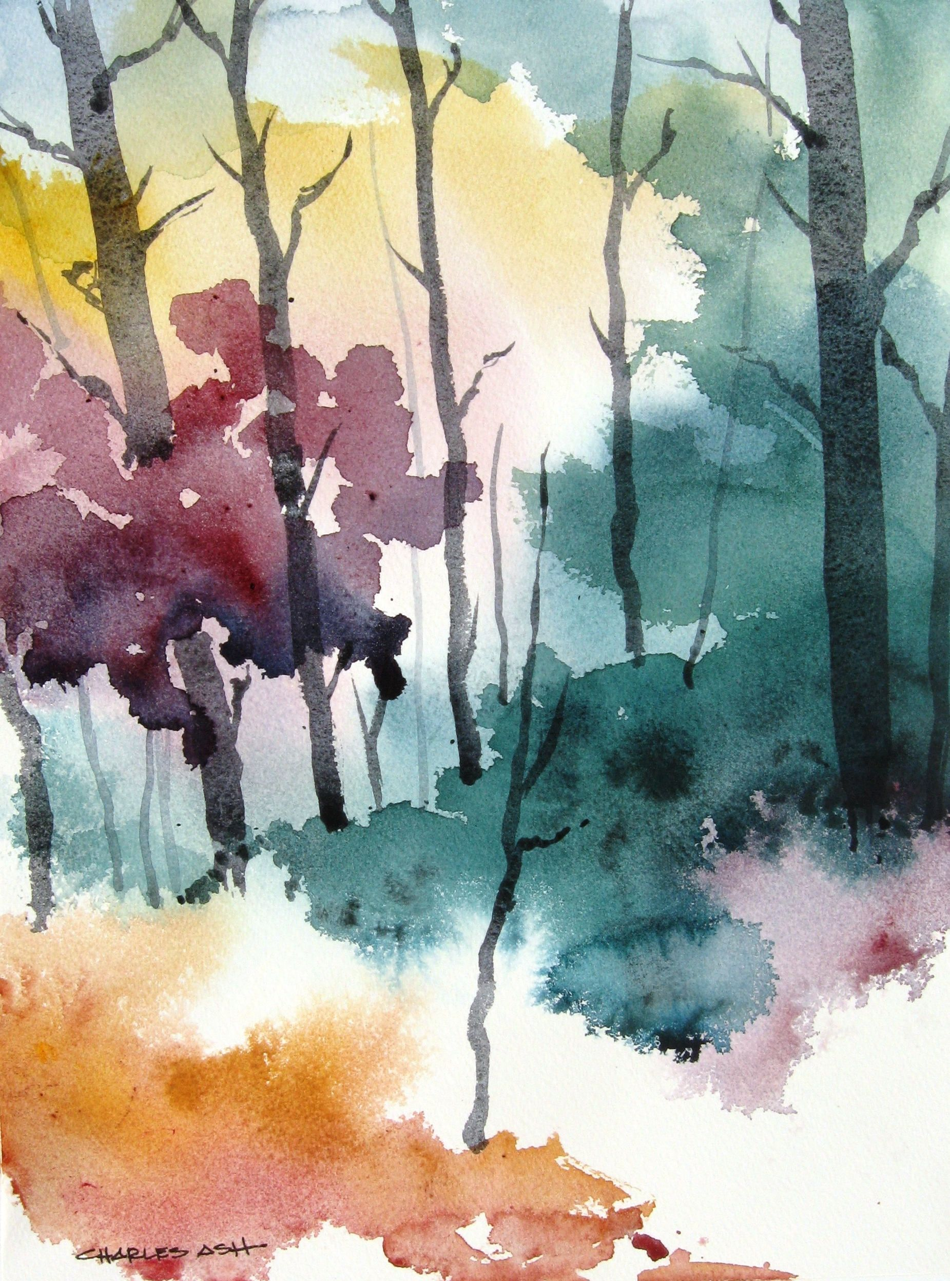 Autumn Colors Original Watercolor Painting Watercolor Art