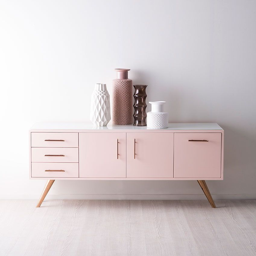 Bedroom Credenza: Pink Paints, Furniture And Accessories