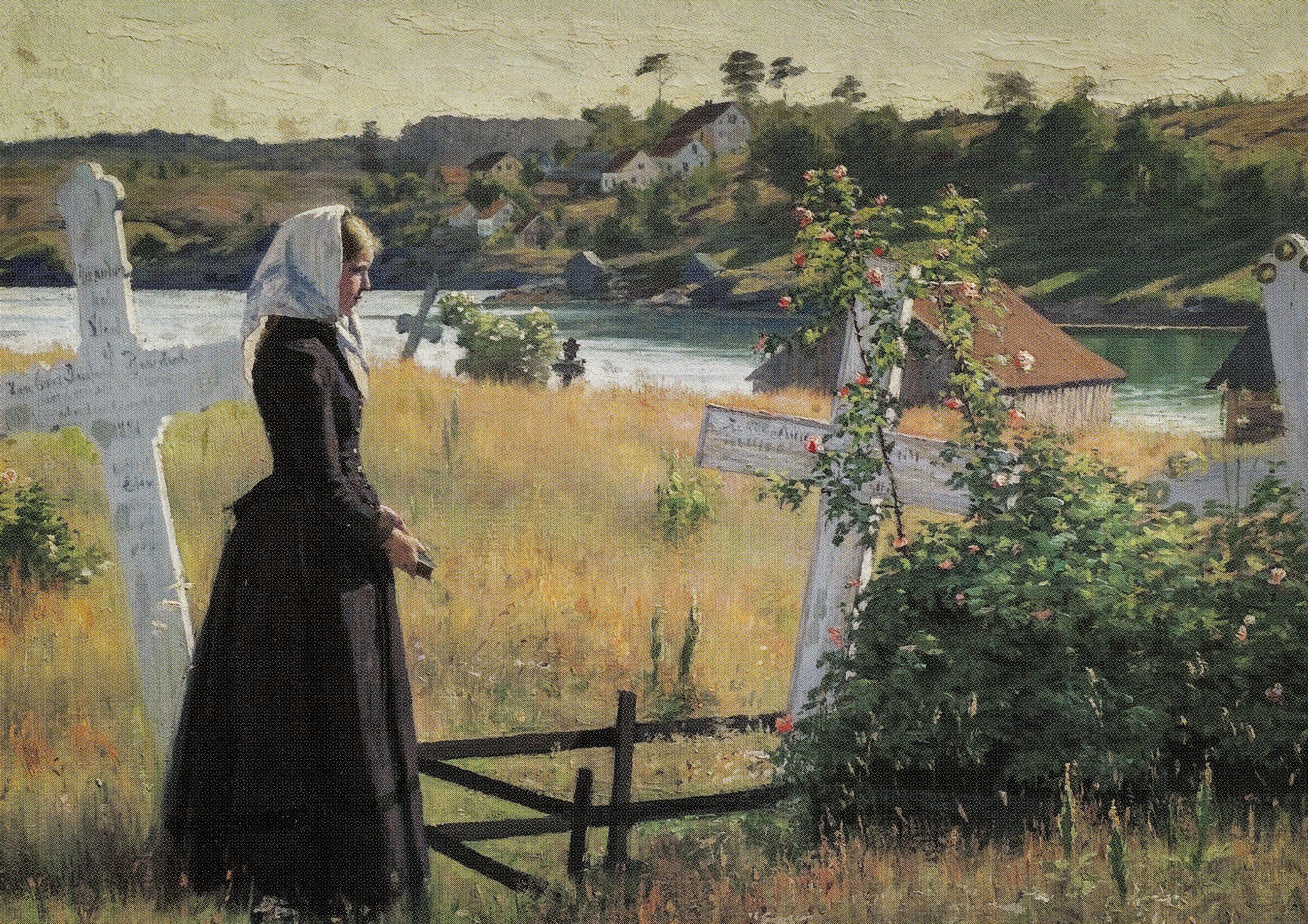 https://flic.kr/p/VvYD4f | Jacob Bratland - Po kirkegarden, 1889 at Bergen Kunstmuseum Norway | Jacob Bratland - Po kirkegarden, 1889 at Bergen Kunstmuseum Norway