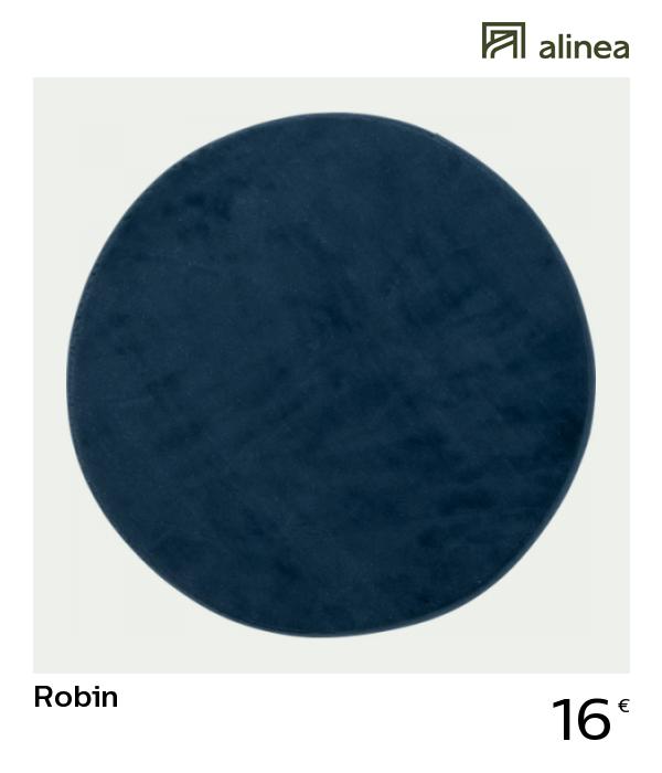 Alinea Decoration Robin Tapis Rond Imitation Fourrure Bleu Figuerolles Plusieurs Tailles Tapis Rond Tapis Rond Alinea Tapis