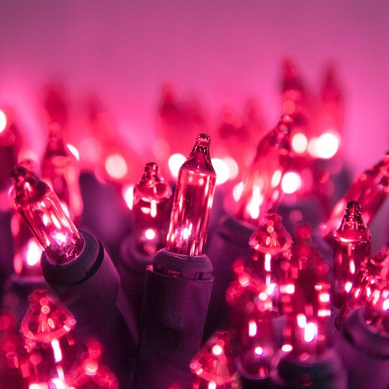 standard grade pink mini lights from christmas lights etc 22 gauge green wire end to end connectors ideal for indoor outdoor use