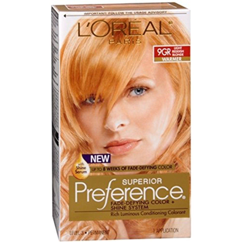 L Oreal Superior Preference 9gr Light Reddish Blonde Warmer 1