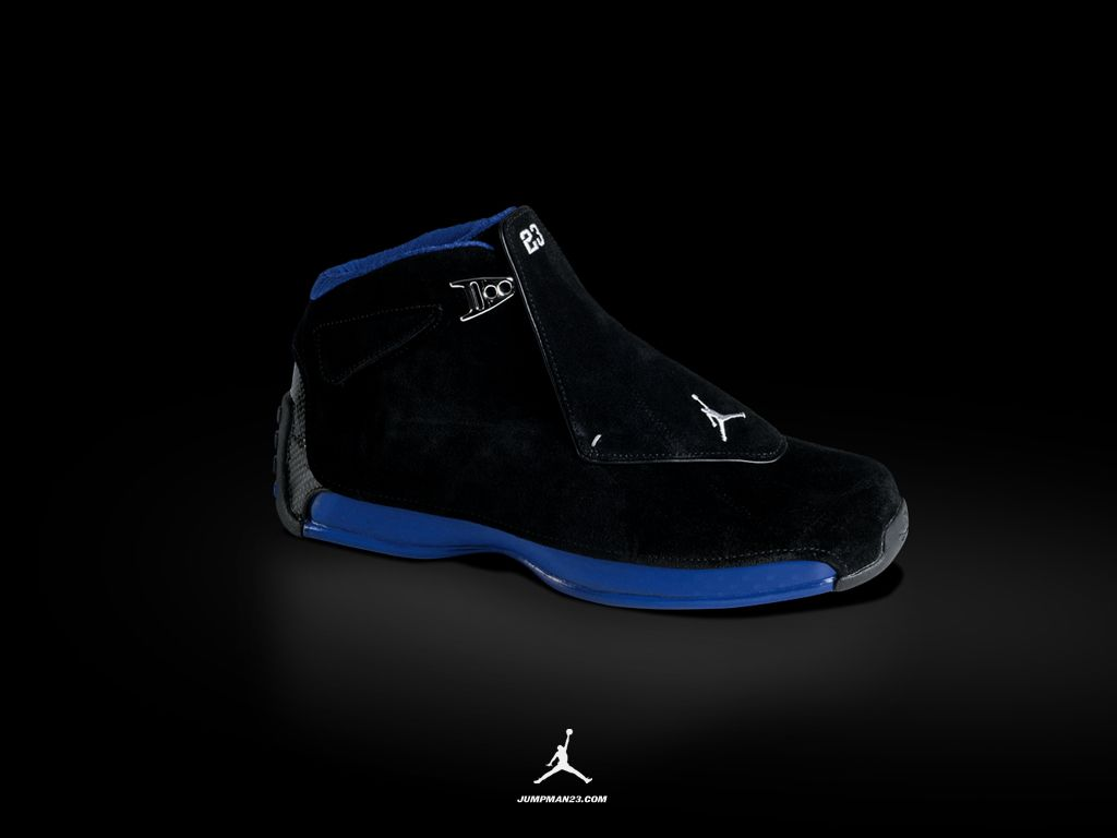 The Air Jordan XVIII was released in 2003 and was the shoe for Jordan's  last season