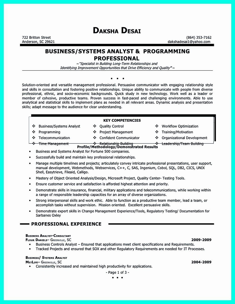20 Business Data Analyst Resume in 2020 (With images