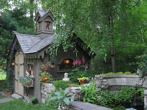 A Fairytale Garden Shed Complete With Stained Glass Windows