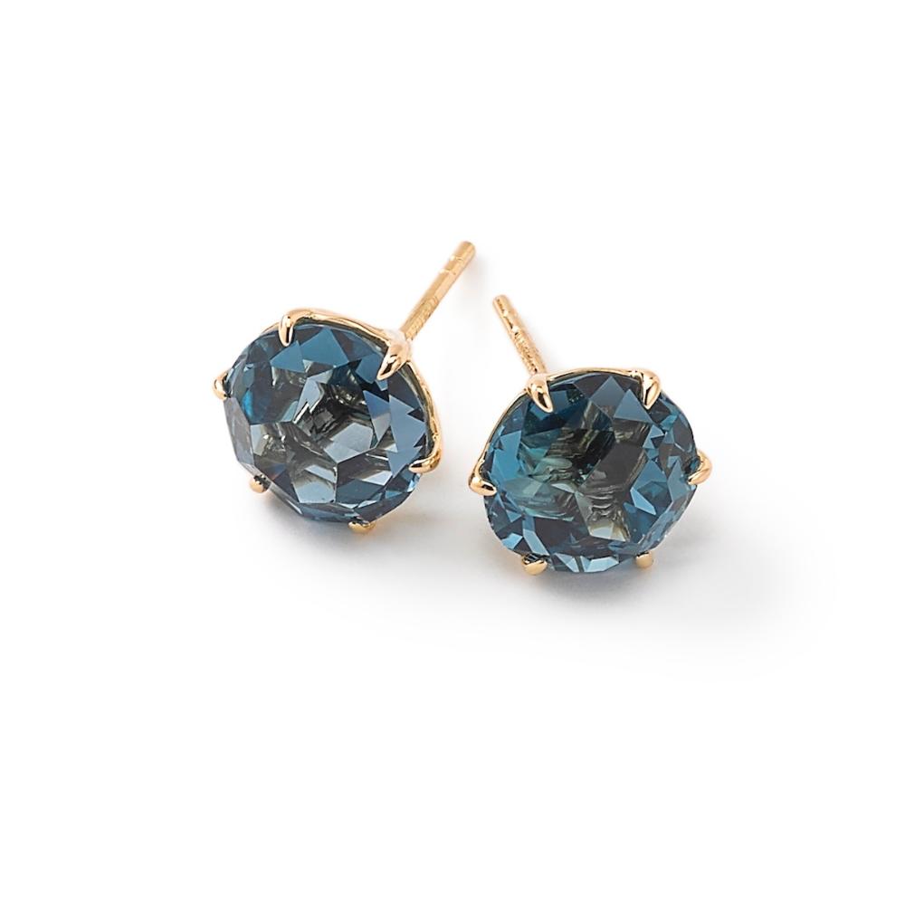 Medium Round Stud Earrings in 18K Gold Round stud