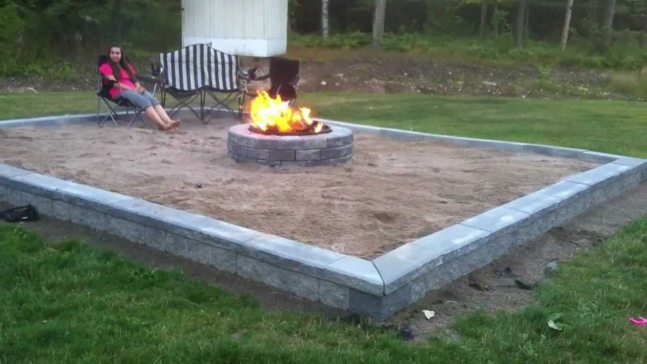 Building Back Yard Beach Themed Fire Pit Series Compilation
