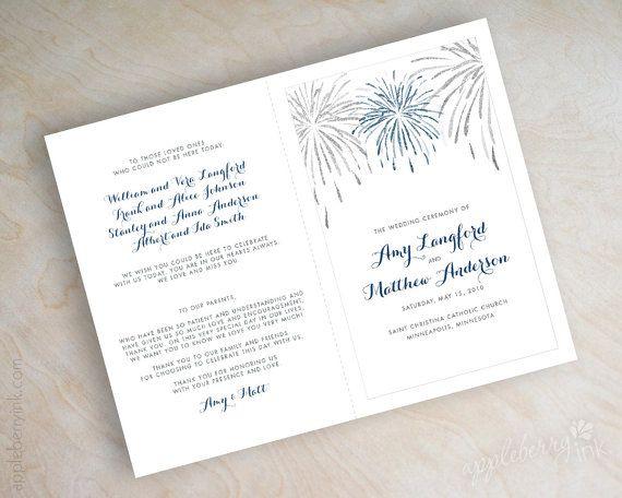 navy blue and silver fireworks bi fold wedding by appleberryink