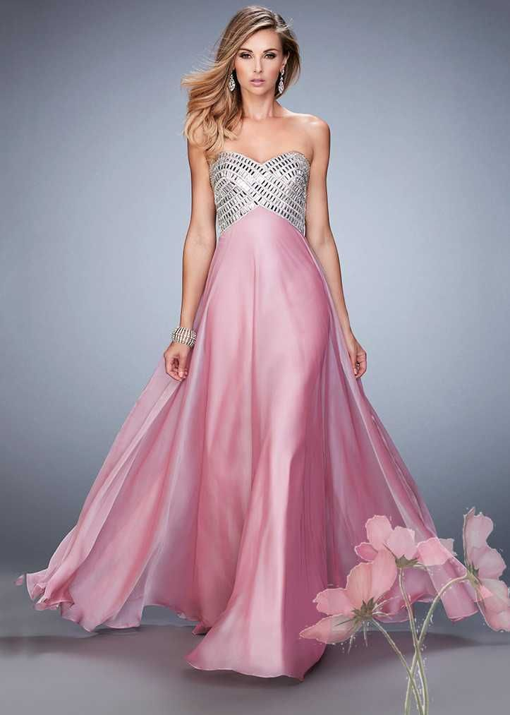 Beautiful Pink Sparkly Strappy Beading Top Open Back Prom ...