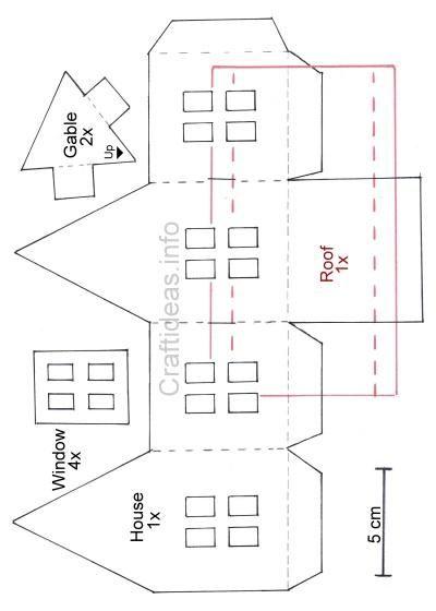Paper Scandinavian House Template Paper House Template