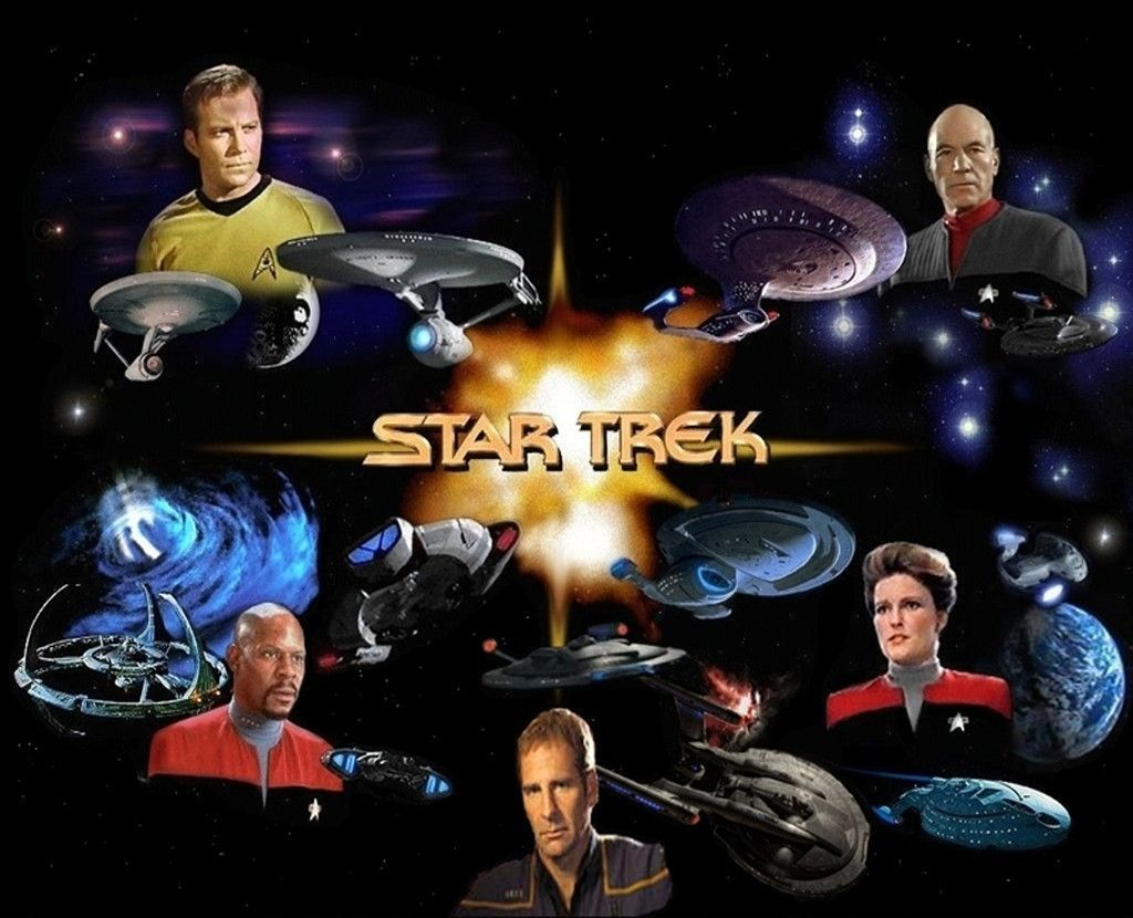 Star Trek (Captains) - Mouse Mat