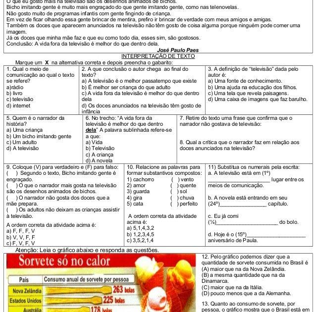 Atividades De Matematica Portugues Ciencias Ingles E Ensino