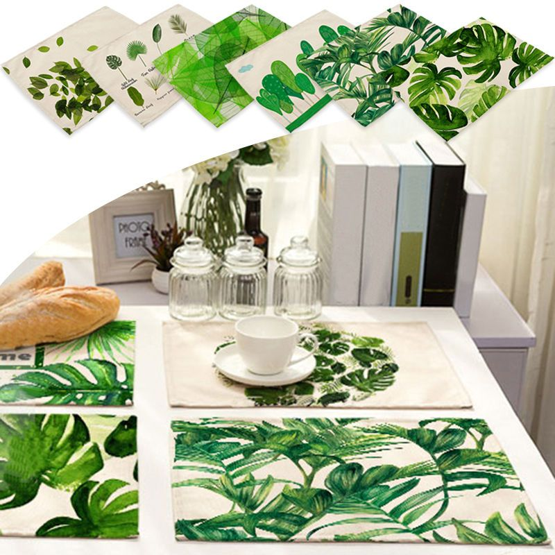 3 19 Aud Fresh Leaves Insulation Bowl Placemats Dining Pad