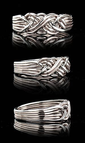 Puzzle Ring Somerset Six Band Puzzle Ring In Medium Weight Sterling Silver Puzzle Ring Puzzle Wedding Rings Engagement Rings For Men