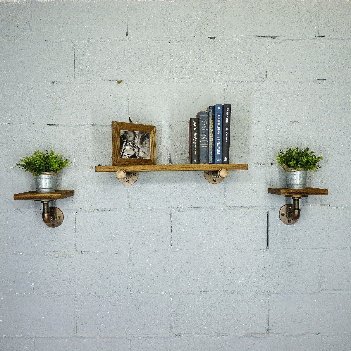 Cape Coral Farmhouse Industrial Set 24 8 Wide 3 Piece Multi Purpose Wall Shelf In 2019 Products Wall Shelves Shelves Pipe Shelves