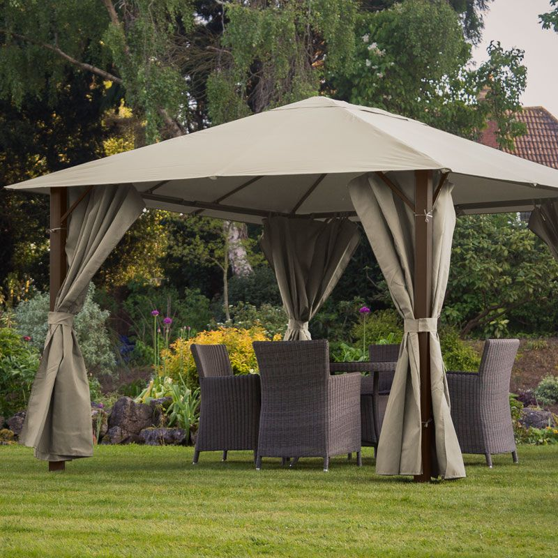 Provence 3m X 4m Gazebo Dark Cream