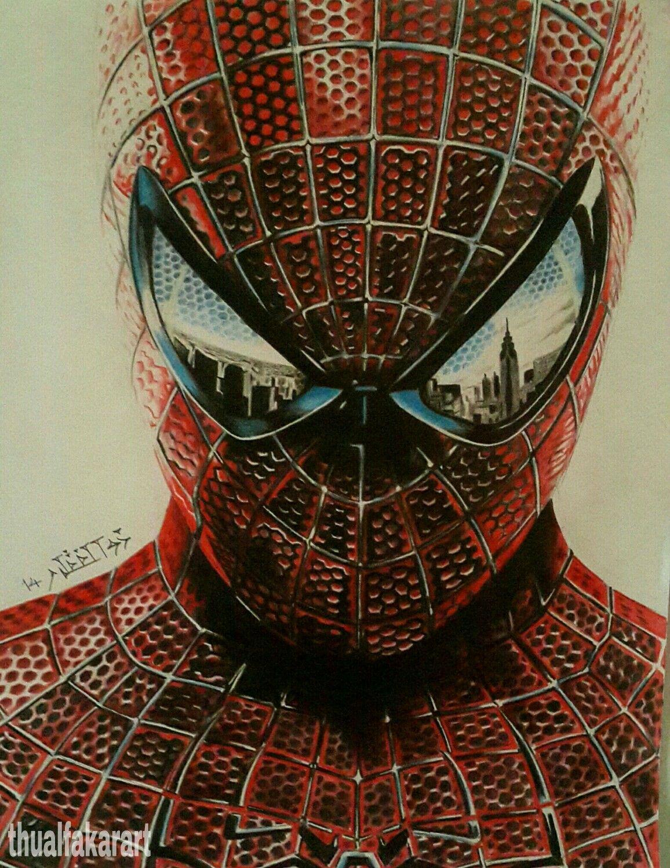 رسم سبايدر مان ذو الفقار صالح Spiderman Art Superhero