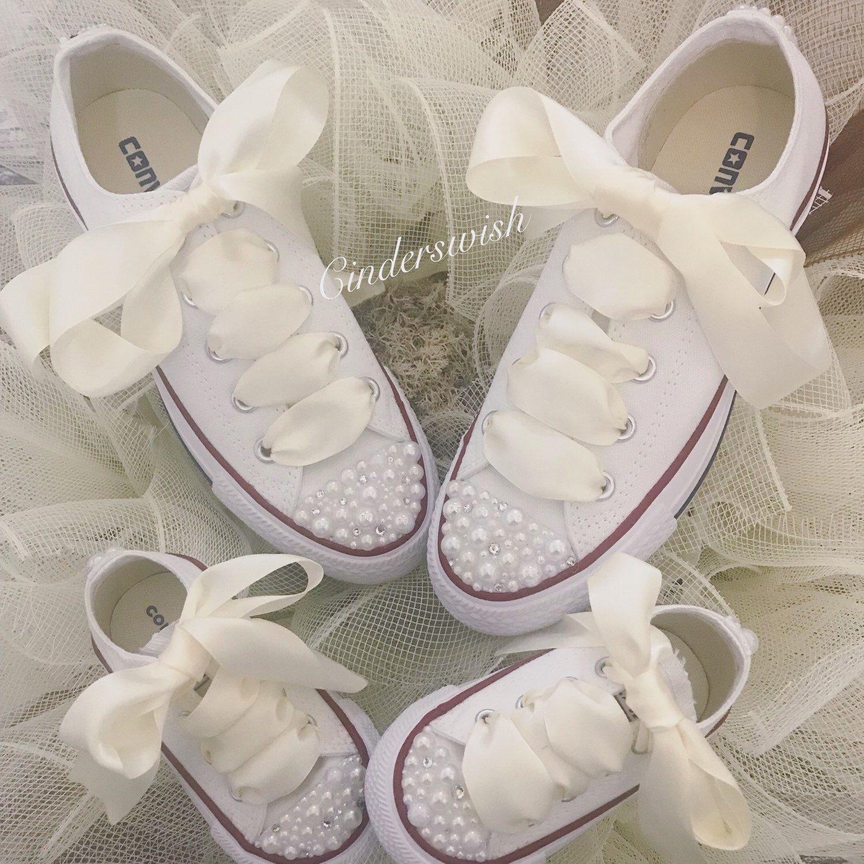 0fe964df01348 Mummy & Me matching Wedding shoes / Bride and Flowergirl wedding ...