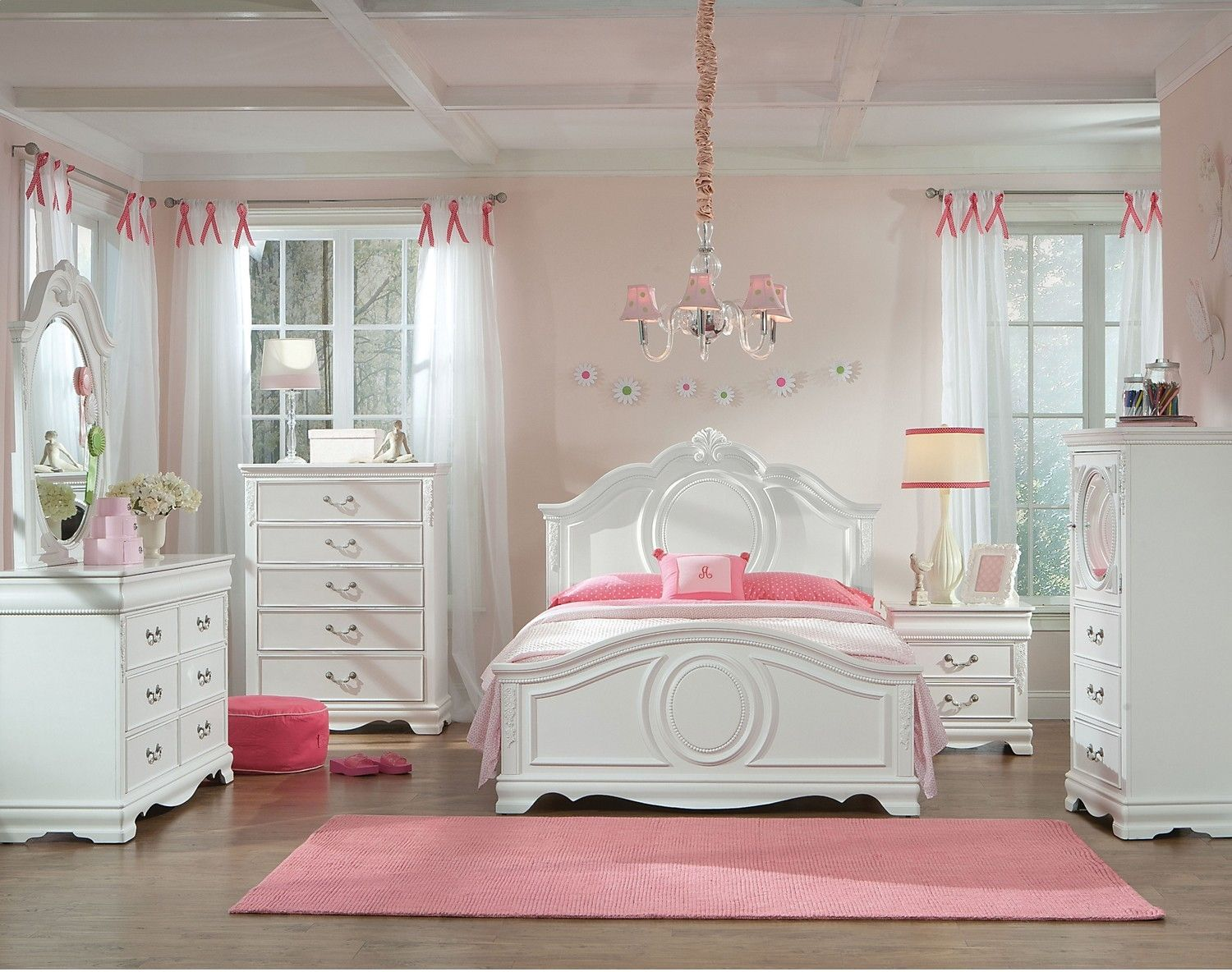 Jessica 5Piece Full Bedroom Set White The Brick