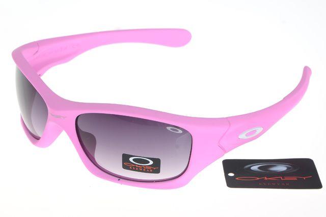 Oakley Crankcase Sunglasses Pink Frame Gray Lens 0176