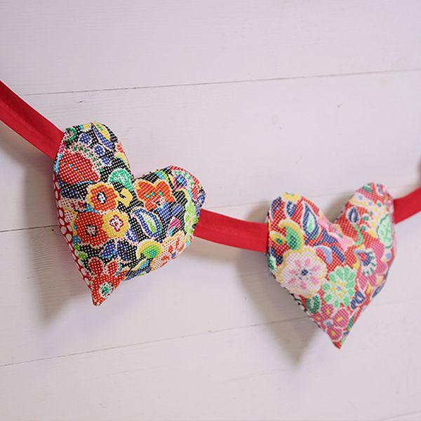 How to Sew Puffy Heart Bunting   DIY und Selbermachen und Selbermachen