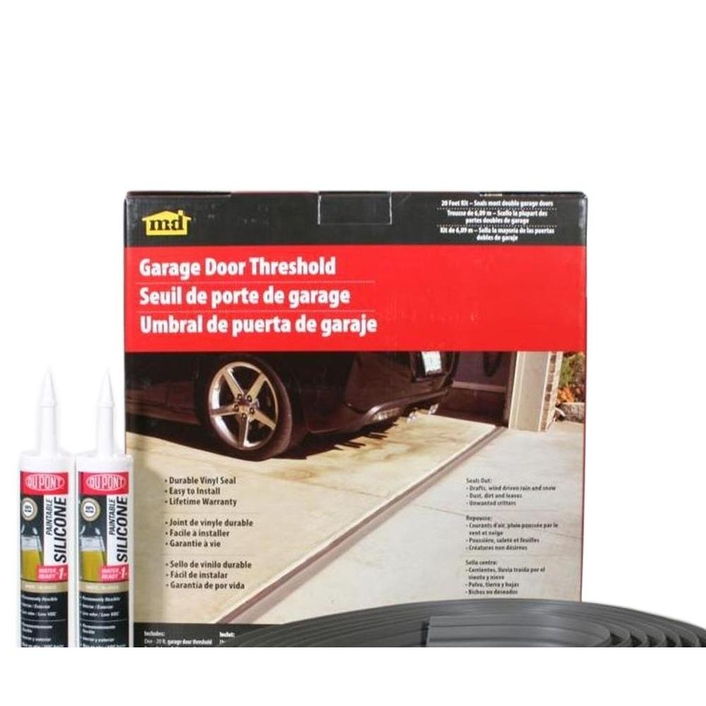 M D Building Products 20 Ft Gray Garage Door Threshold Kit 50101 Garage Door Threshold Grey Garage Doors Garage Door Threshold Seal