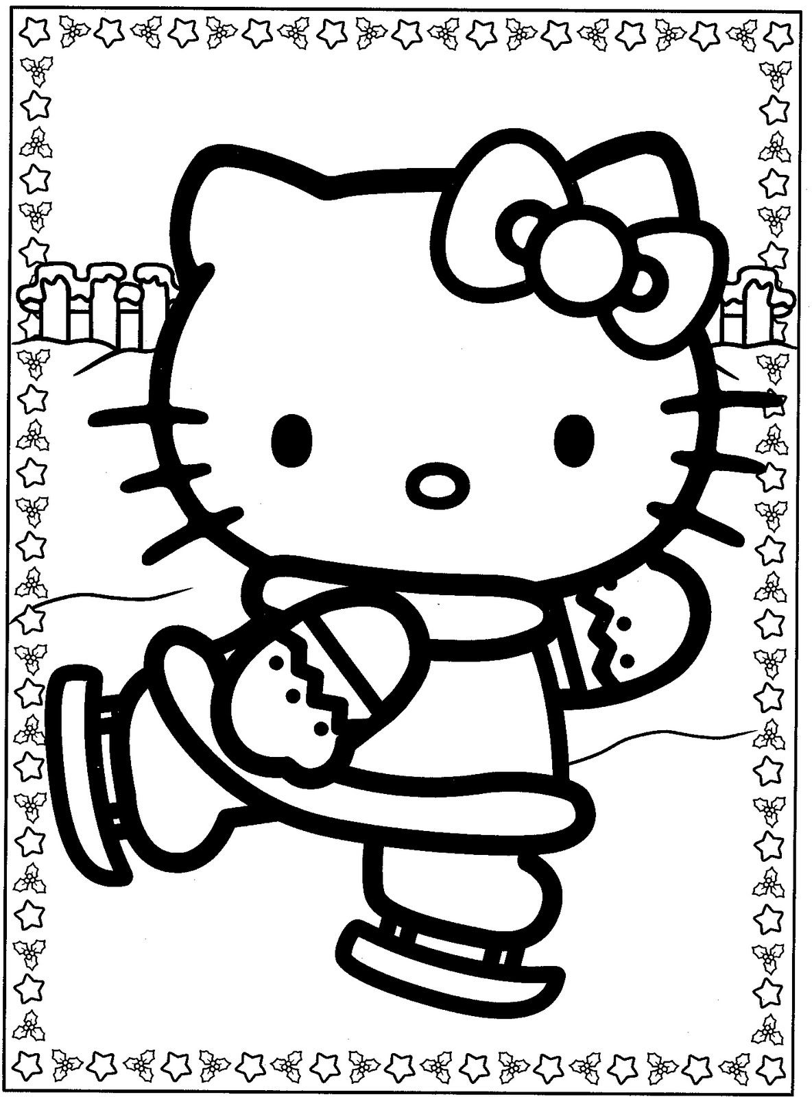 Hello kitty coloring pages keep the kids entertained pinterest