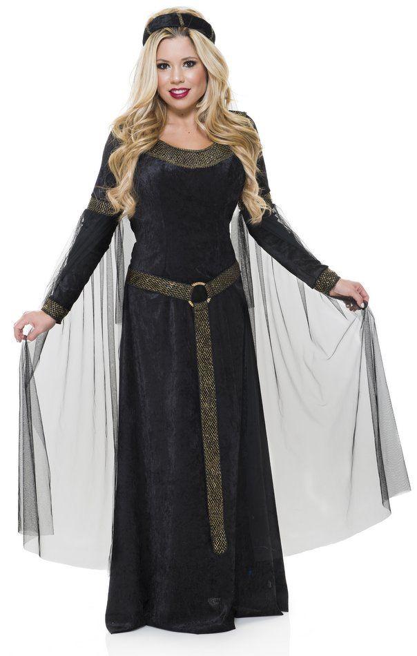 01b18bb6aff44 Adult Black Gold Renaissance Lady Costume - Medieval Costumes - Candy Apple  Costumes - Women s Renaissance Costumes