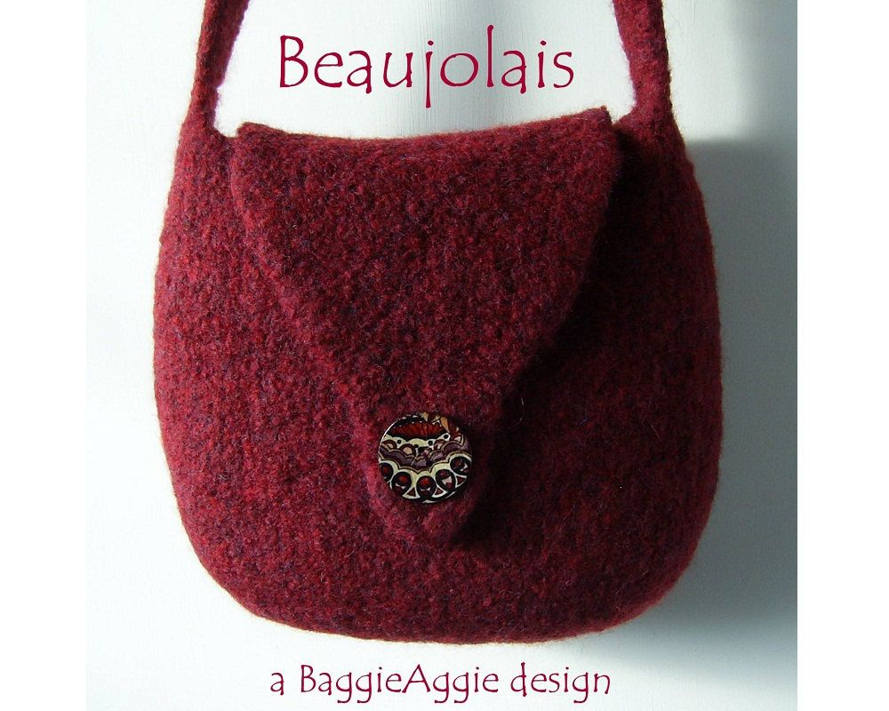 Felted Bag Pattern, Felted Purse Pattern, PDF Knitting Pattern - Beaujolais. £3.35, via Etsy.