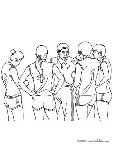 Volleyball Coloring Page Color This Team Sheet More Sports Pages On Hellokids