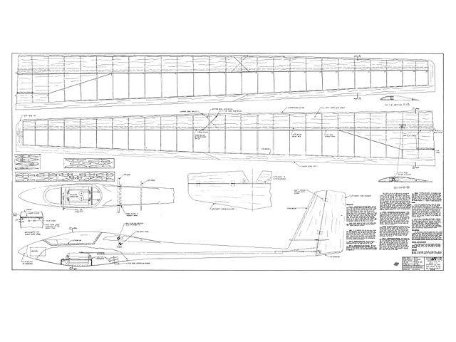 Asw 17 Plan Thumbnail Sailplanes Pinterest Aircraft