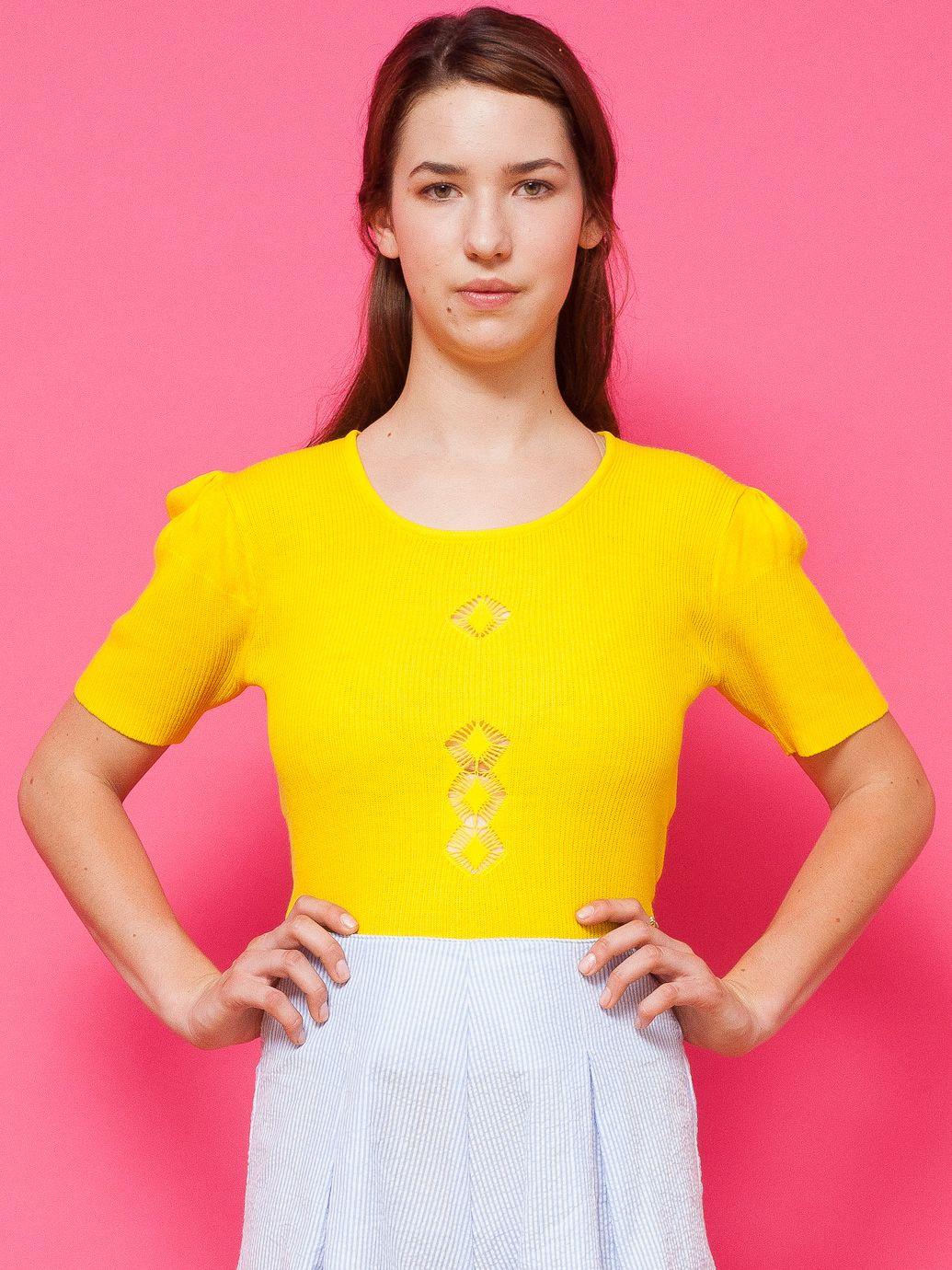 American apparel vintage diamonds openknit shortsleeve sweater