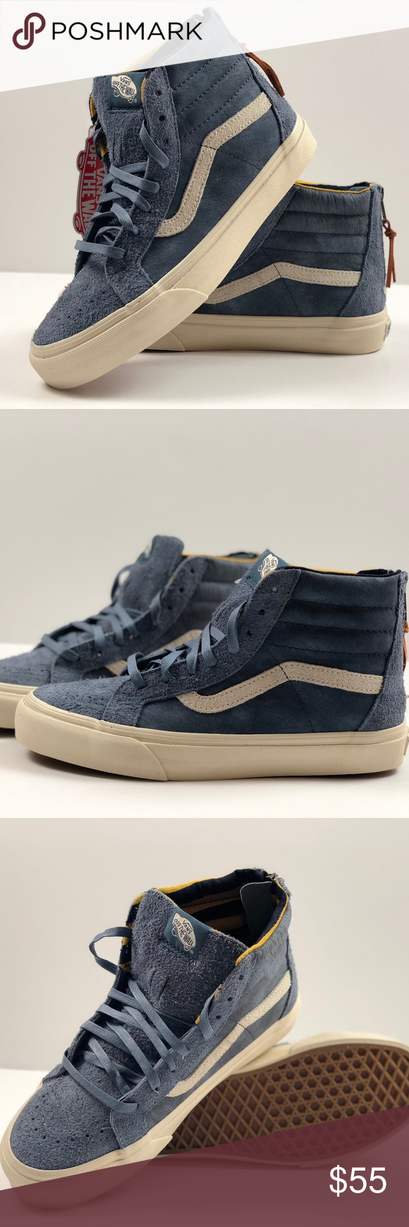 16b3d8f00bb343 Vans SK8 - Hi Zip DX Varsity Blue Sneakers. Vans SK8 - Hi Zip DX