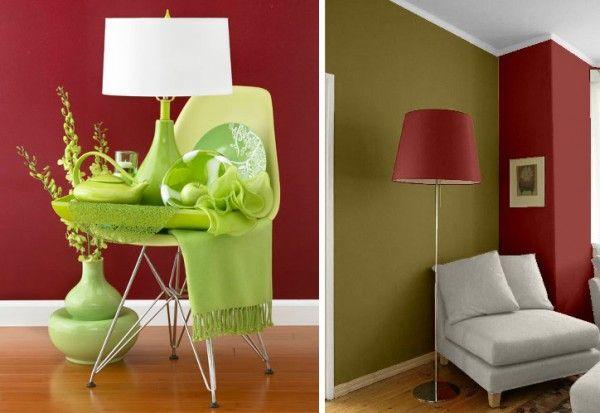 Combinar El Rojo Con Verde En Colores Complementarios Vemos Este Ejemplo La C Paletas De Colores Para Dormitorio Decoracion De Interiores Decoracion De Unas