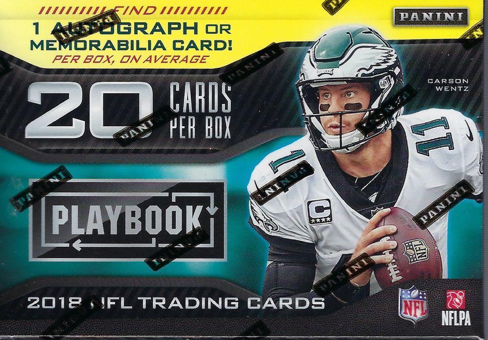 2018 Panini PLAYBOOK Football NFL Cards 20c Retail Blaster Box   1 Auto Mem  O A  All 55a762033