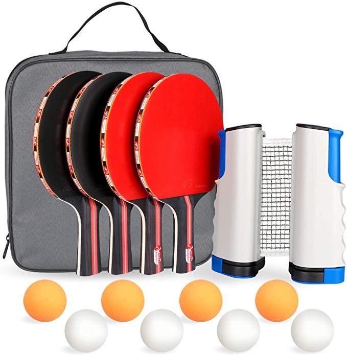 Amazon Com Fostoy Ping Pong Paddle Ping Pong Paddles Set Of 4 Ping Pong Paddles And 8 Table Tennis Ball Ping Pong Paddles Ping Pong Ping Pong Paddles Sets