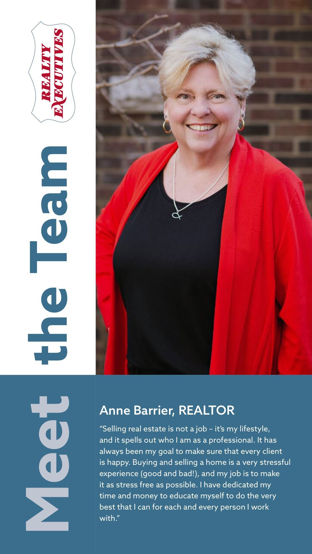 Today we'd like to introduce Anne Barrier, in the FIRST of