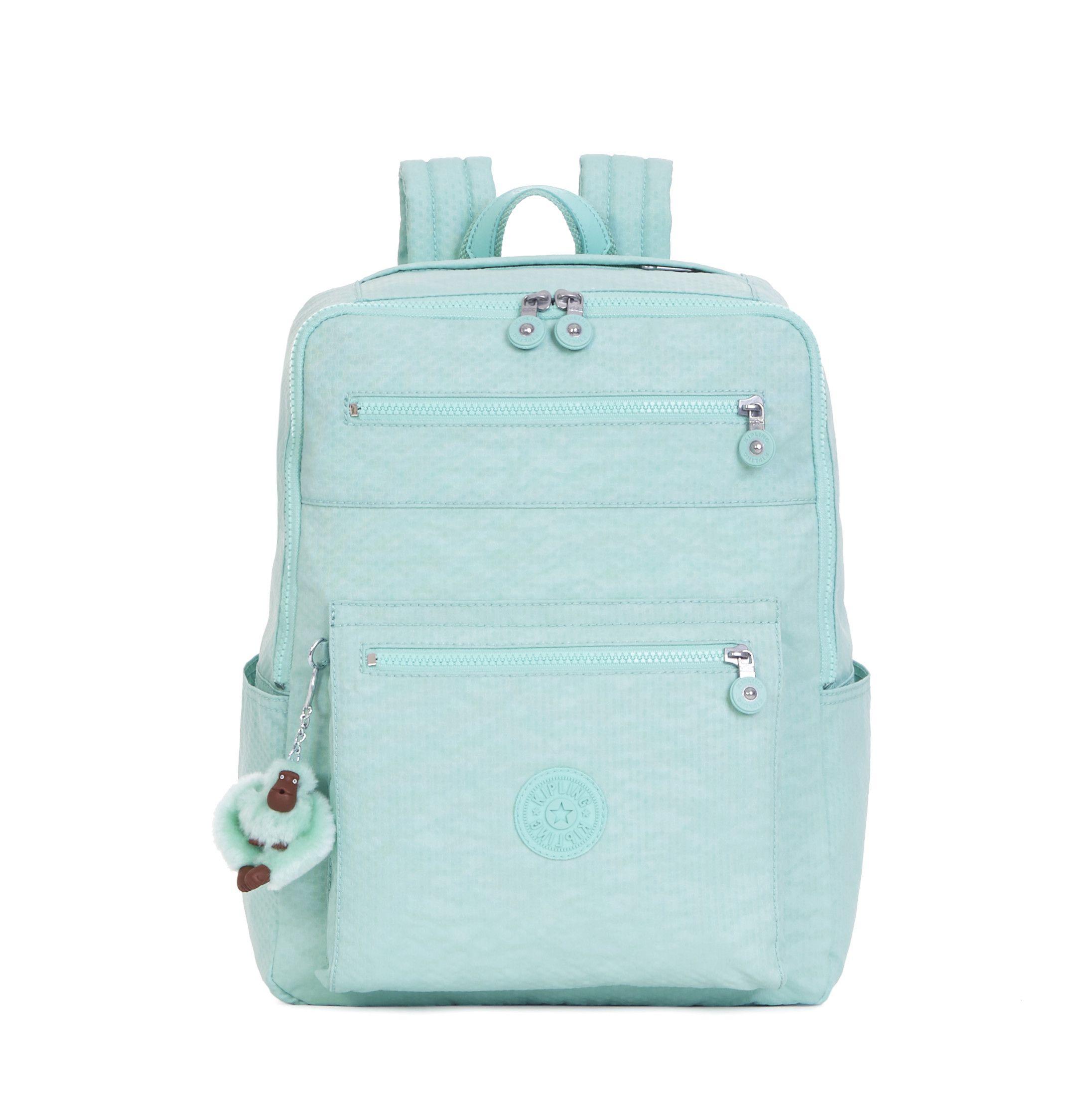 caity medium backpack dots seafoam green textbook backpacks