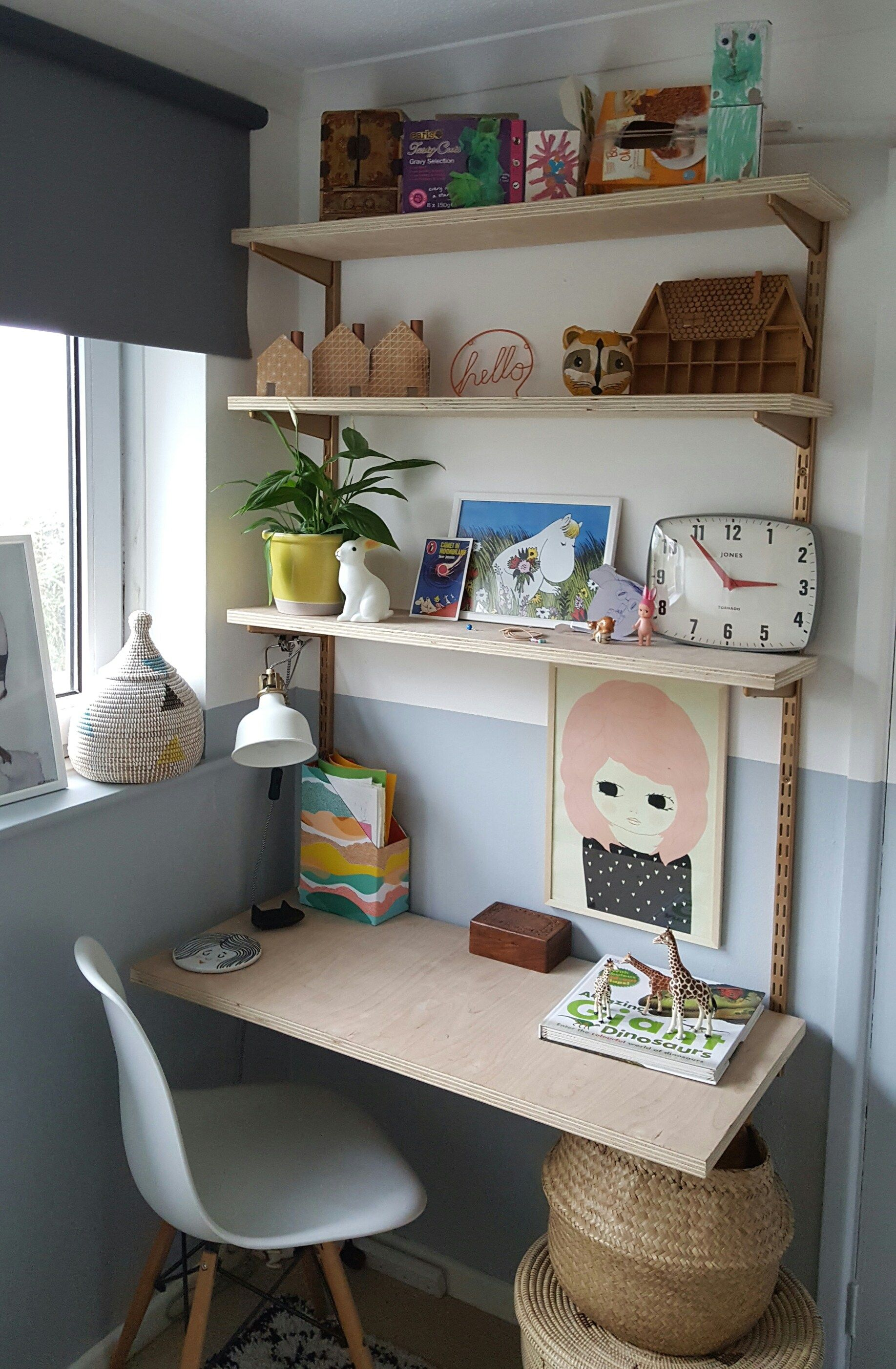 Quick, easy and beautiful twin slot shelving. | modern boys bedroom ...