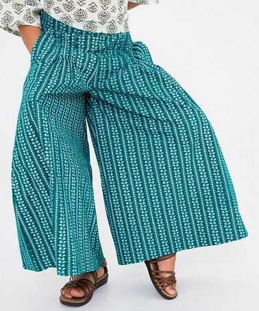 Loving this Teal Floral Palazzo Pants - Girls on #zulily! #zulilyfinds