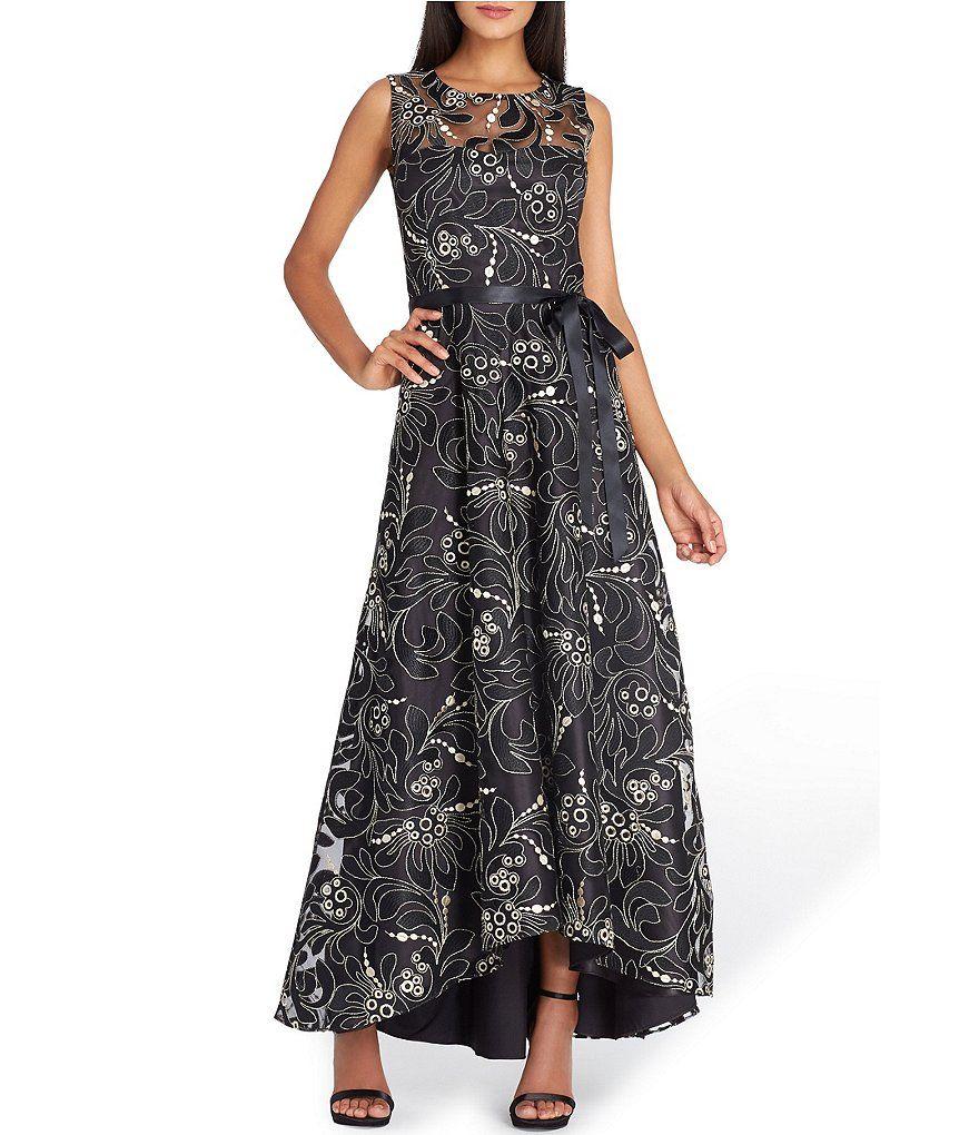 Tahari ASL Floral Embroidered Gown | Dillards | Dresses | Pinterest ...