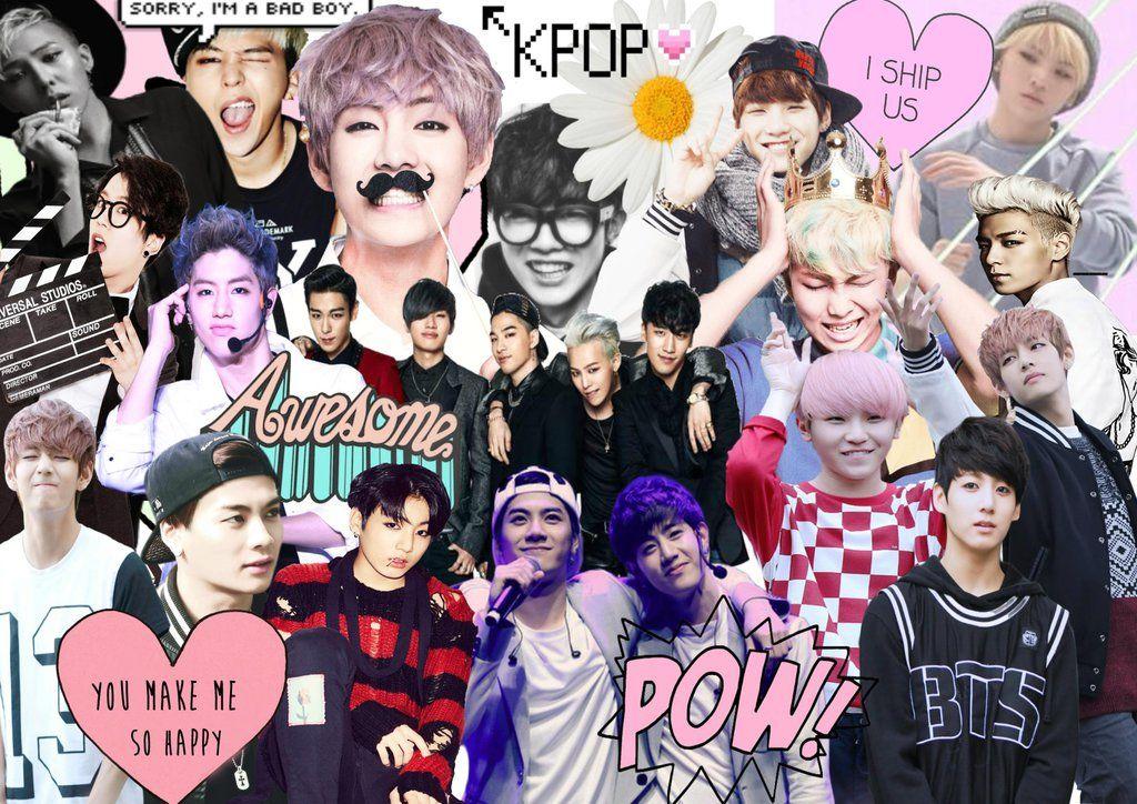Wallpapers De Kpop Para Compu: Resultado De Imagem Para Kpop Collage