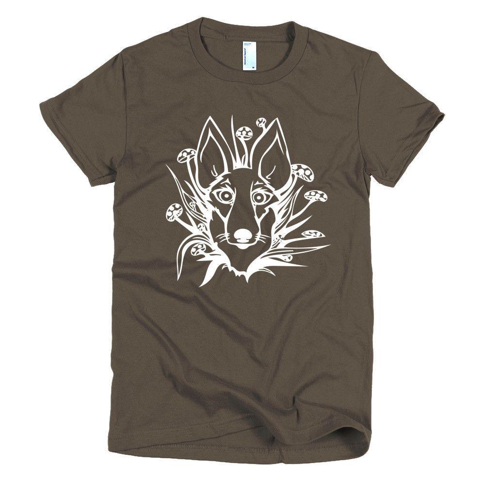 Short sleeve women's t-shirt - Mushroom Wolf