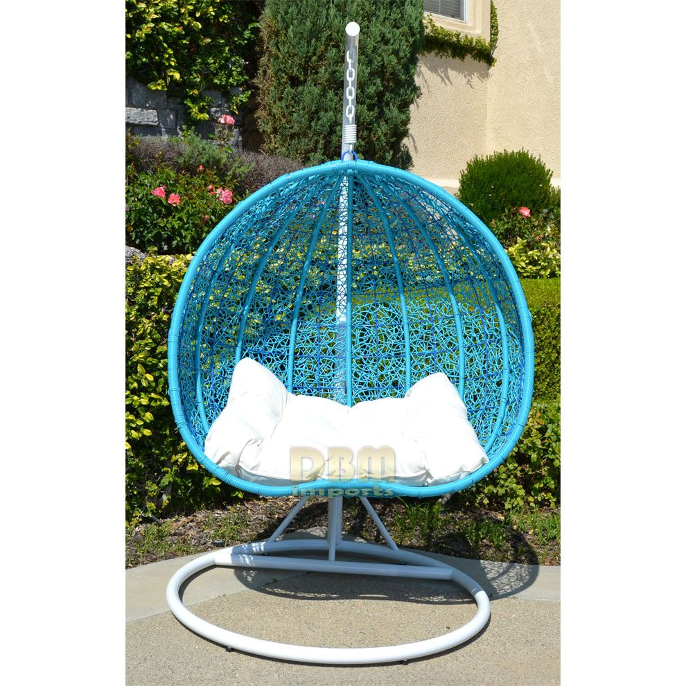 2 Persons Seater Egg Nest Shaped Wicker Rattan Swing