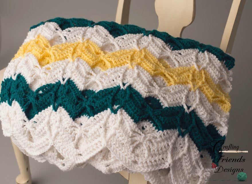 Diamond Burst Chevron Afghan #Crochet Pattern | Crochet | Pinterest ...