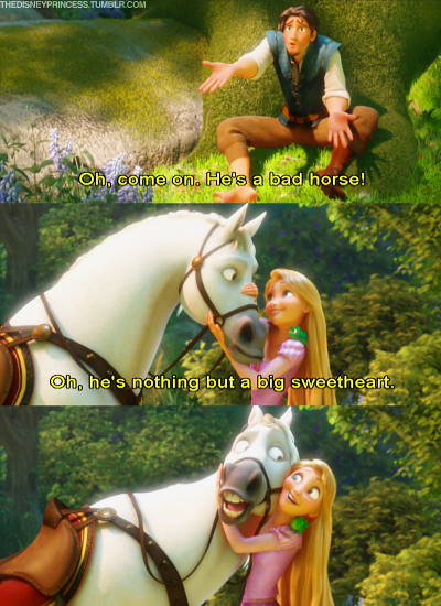 Just the faces and all the hard work that went into Tangled was perfect. Plus, through this movie we were introduced to who is perhaps one of the best Disney characters ever in my opinion- Flynn Rider!!! :)