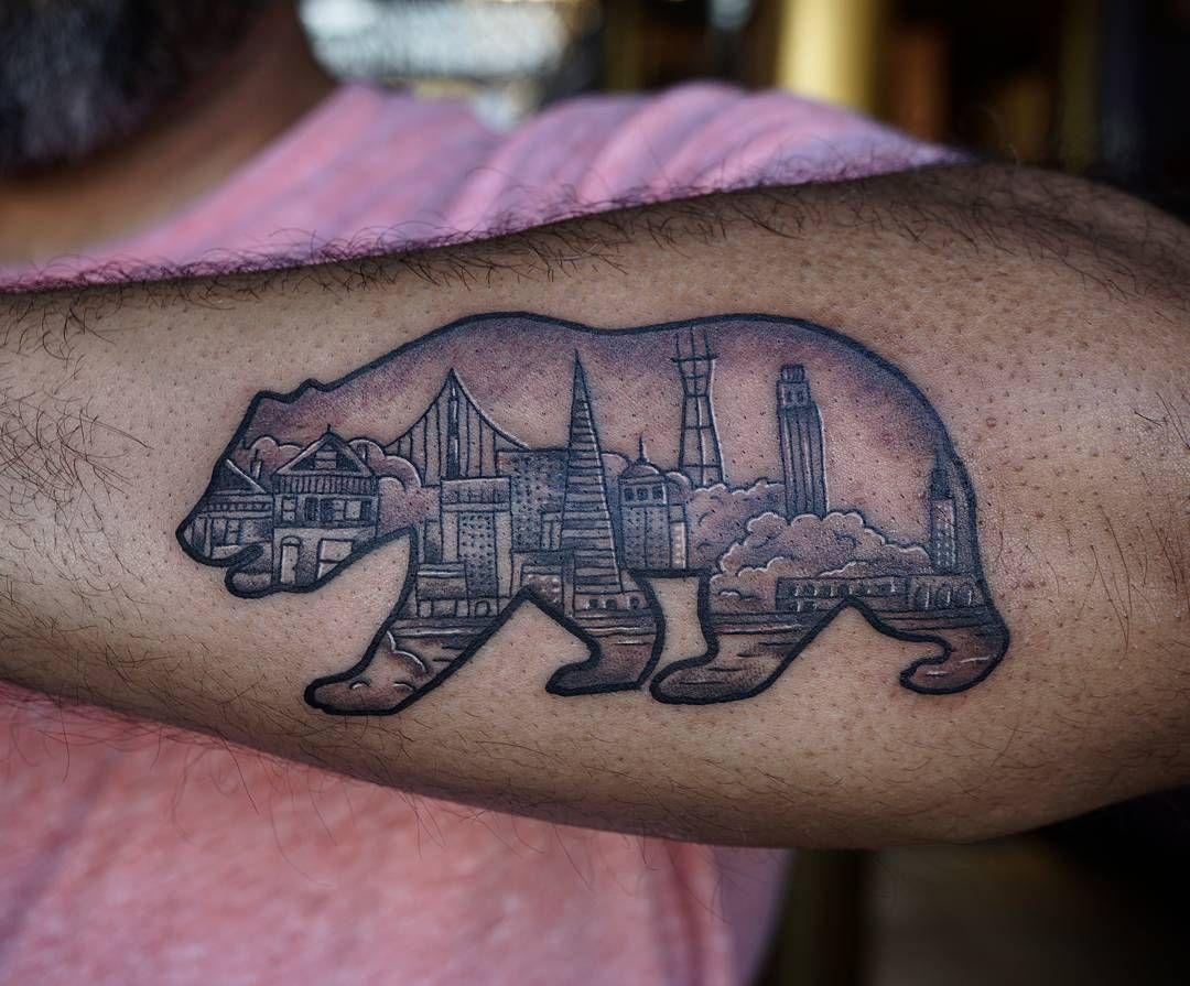 California Bear San Francisco tattoo (kayandaya) on
